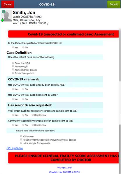 COVID 19 Assessment